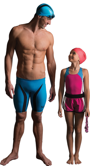 Michael Phelps Standing Next To Young