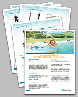 Use a swim spa exercise program to live well with Multiple Sclerosis