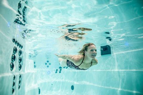 underwater swimming in a signature deep swim spa