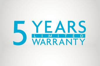 5 Year Equipment and plumbing warranty