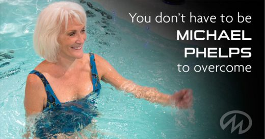 You don't have to be michael phelps to overcome