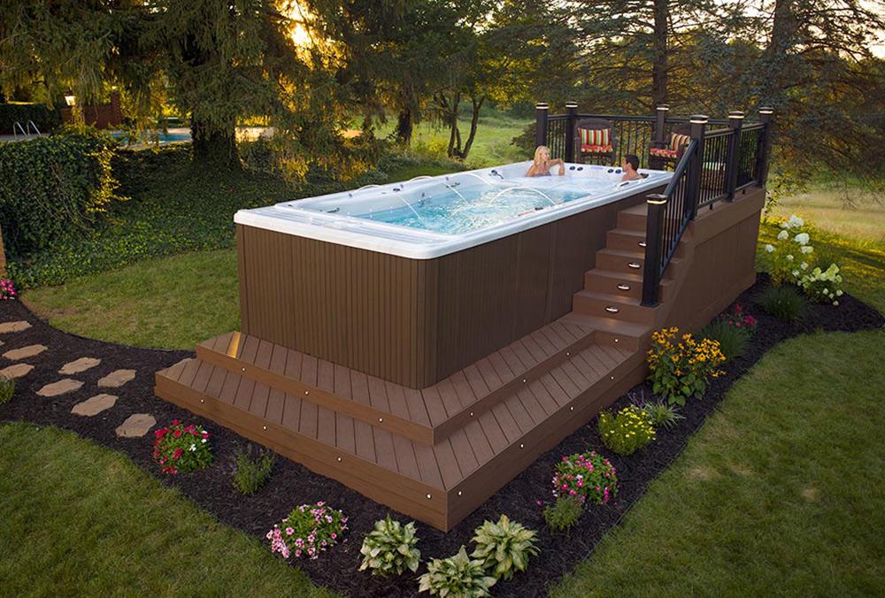 Swim Spa Backyard Designs swim spa: swim spa installation ideas