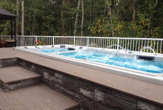 Ground Level Deck Around Pool