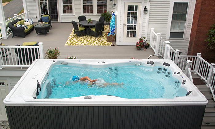 train for your triathlon in a michael phelps signature swim spa